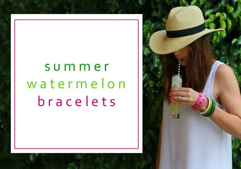Summer Watermelon Bracelets