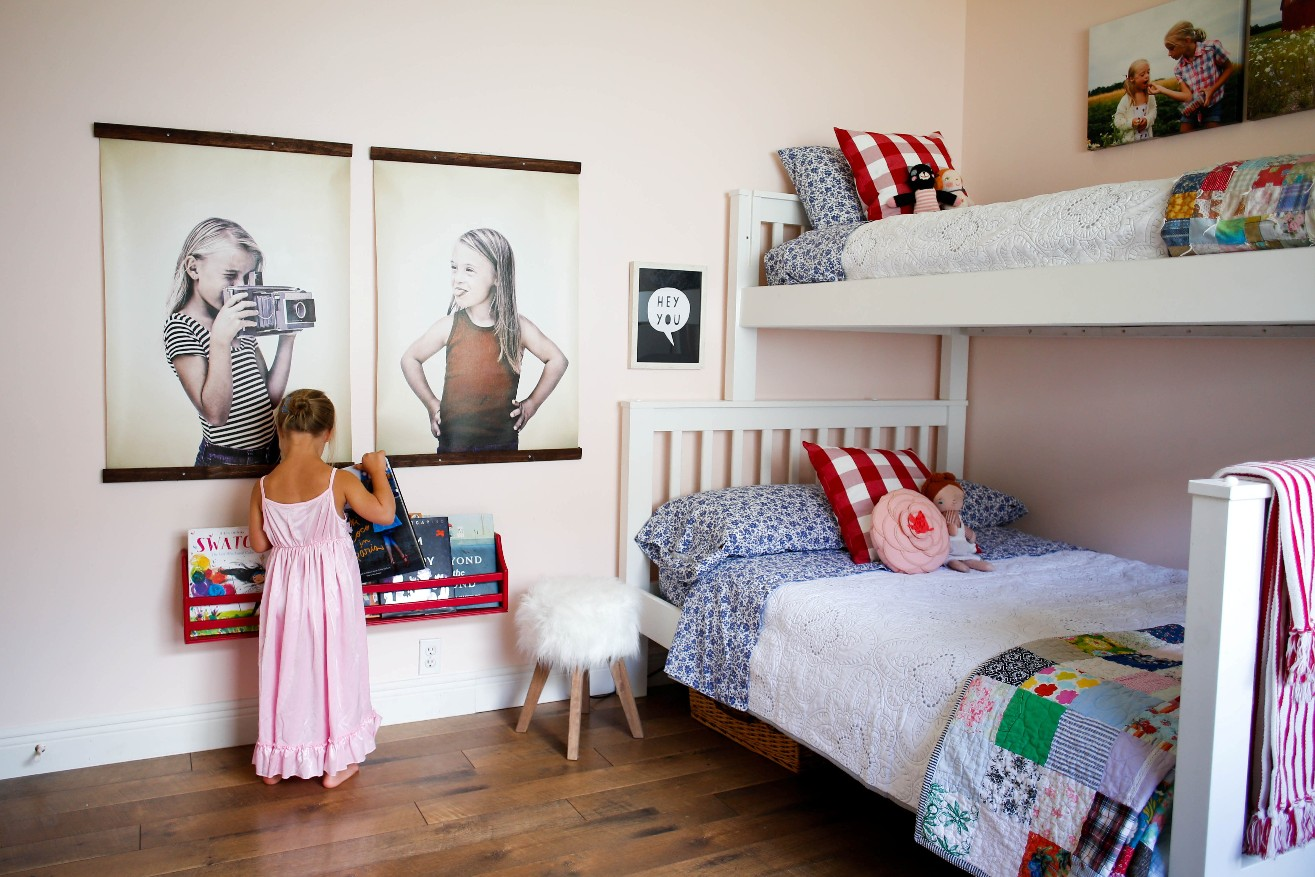 Girls room revamp large art prints enjoying the small - Things for girls room ...