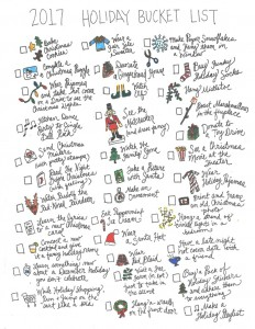 2017 Holiday Bucket List
