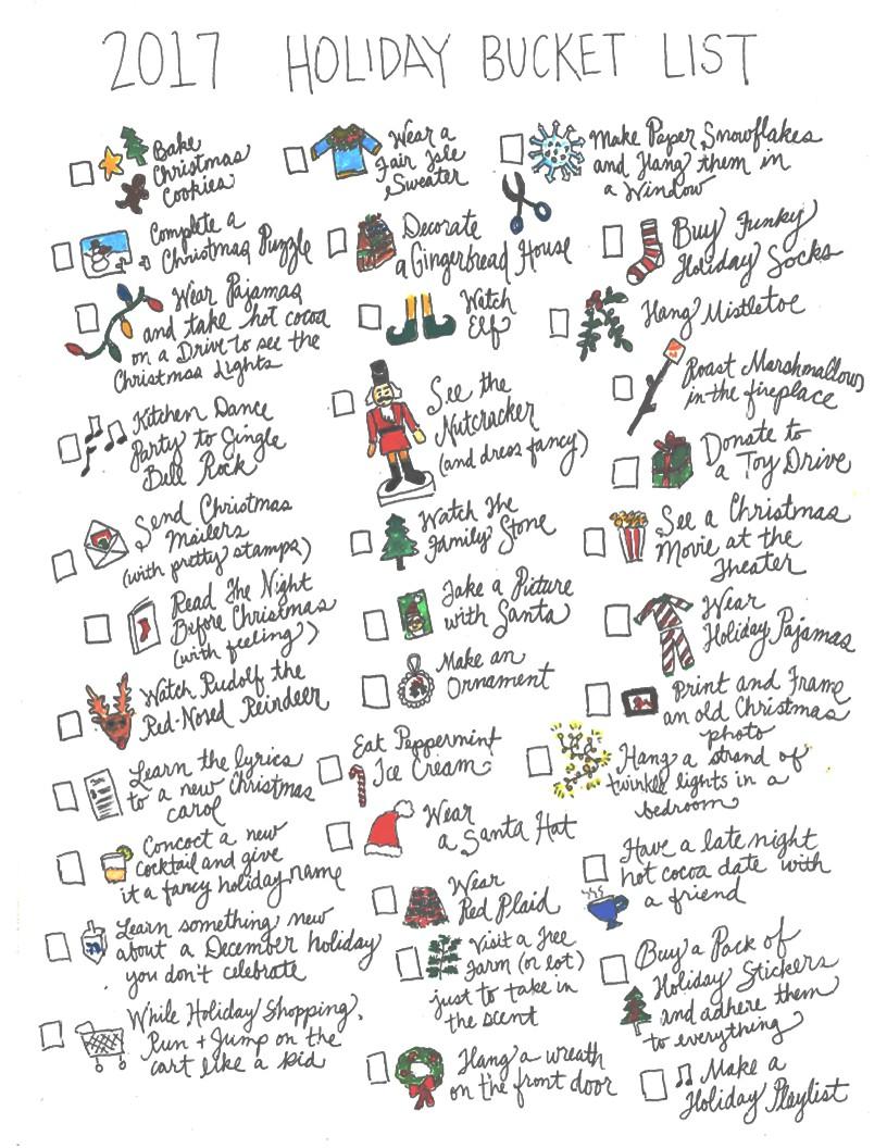 2017 Holiday Bucket List