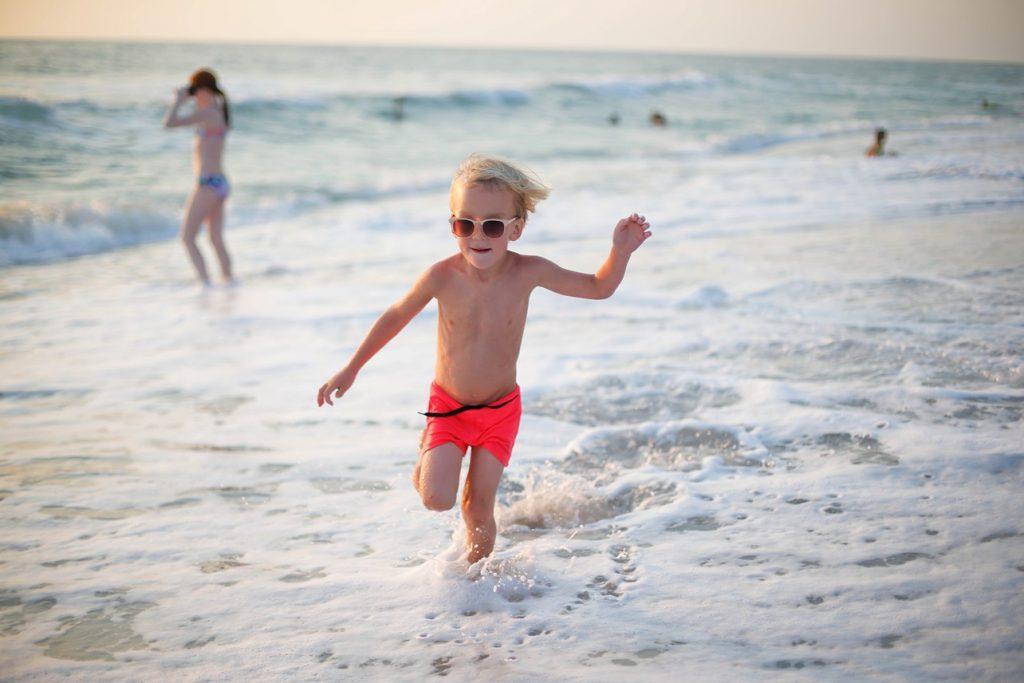 Dash on beach