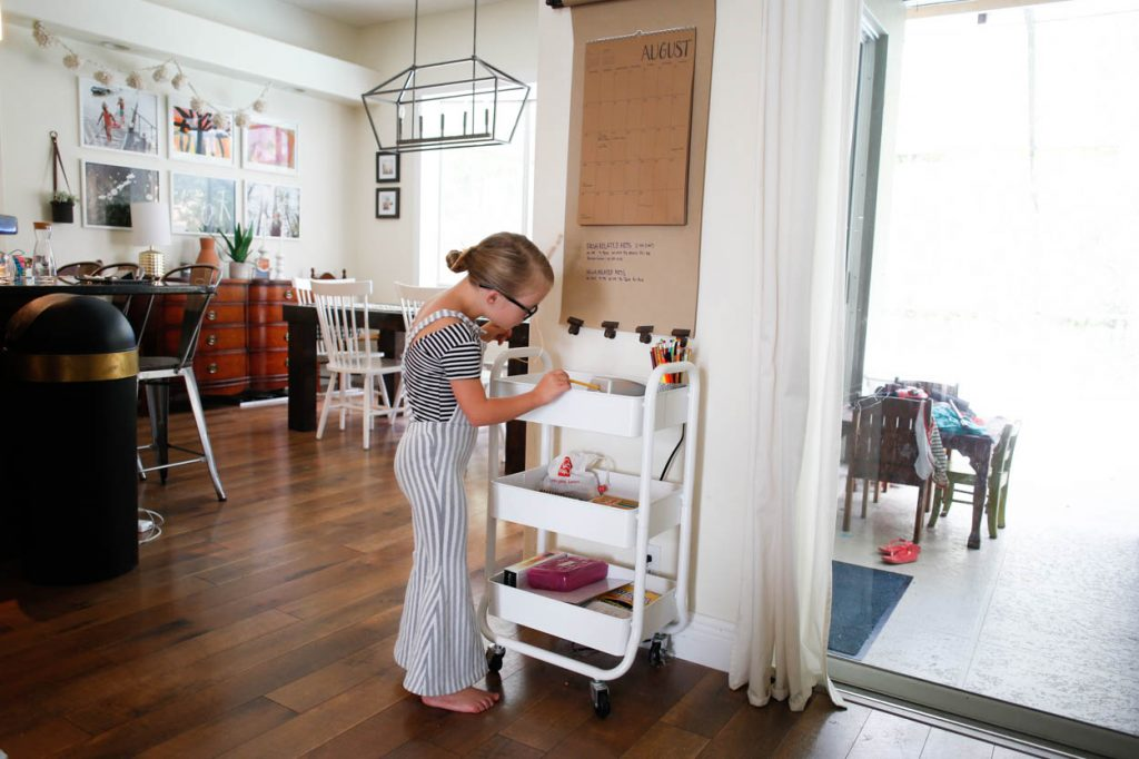 Creating a Study Space for Your Kids: Our Homework Cart and How We Stock It
